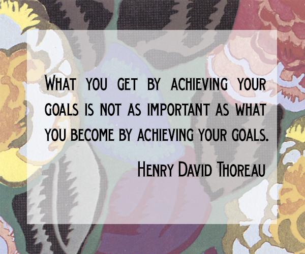 goals thoreau quote